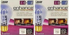 Feit Electric Q53A/CL/D Energy Saving 53 Watt Halogen Bulb, A19 Shape (2 pack)