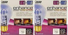 Feit Electric Q53A/CL/D Energy Saving 53 Watt Halogen Bulb, A19 Shape (2 pack)