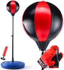 Adjustable Punching Boxing Speed Set Freestanding Reflex Bag Training Kid Gift