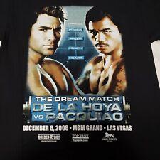Oscar De la Hoya vs Pacquiao T Shirt M 2008 MGM Las Vegas Boxing Dream Match