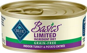 Blue Buffalo Basics Grain-Free Indoor Turkey & Potato Adult Canned Cat 24/5.5 oz