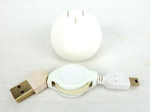 Mini USB Mouse, Retractable Cord, Programmable Button, Black or White, #US1004