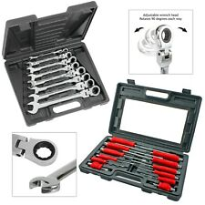 Hex Bolsters Mechanics Screwdriver + Combination Ring Wrench 20 Piece Set
