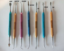 7pcsset Dental Lab Stainless Steel Colorful Wax Plaster Carving Tool Set