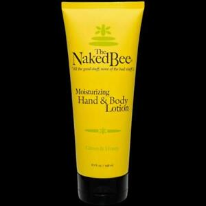 The Naked Bee Citron & Honey Hand & Body Lotion 6.7 oz Large Size Made In USA