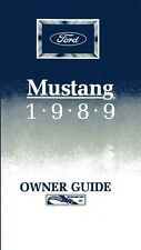 1989 Ford Mustang Owners Manual User Reference Guide Operator Book Fuses Fluids