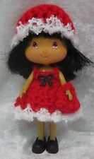 STRAWBERRY SHORTCAKE Doll Clothes #05 Handmade Crochet Dress, Hat & Purse