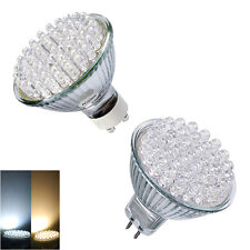 GU10 / MR16 60 LED BULBS = 50W WARM WHITE SPOT LIGHTS 4x/10x/12x PACKS **SALE**