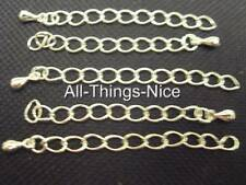 Silver Plated Necklace Bracelet EXTENDER EXTENSION Chain Jewellery Findings 25