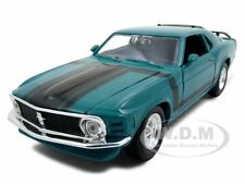 1970 FORD MUSTANG BOSS 302 GREEN 1:24 DIECAST MODEL CAR BY MAISTO 31943