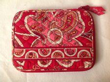 Vera Bradley E-reader Kindle Ipad Mini Case Sleeve Paisley Colors Red Pink White