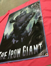 The Iron Giant thick canvas banner movie figure robot poster sign model film Qg7