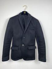 Zara Man Jacket Small Black Waffle Cellular Style Blazer Structured Party