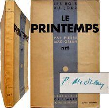 Le Printemps 1930 édition originale signée Mac Orlan grand magasin rois du jour
