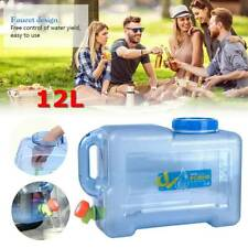 12L Large Water Tank Container Water Bottle Bucket Camping Storage Practical