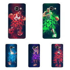 For Samsung Galaxy Note 4 5 A5 A7 2016 Case Soft TPU Phone Back Cover Basketball