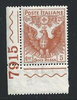 1915 Kingdom - N° 102 10 +5c. Rosa MNH / Number Di Board