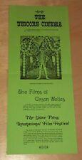 1977 Unicorn Theatre Film Schedule La Jolla California Movie Theater