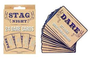 24 x Stag Do Dare Cards Game Boys Night out Guys Stag Party Accessories Funny