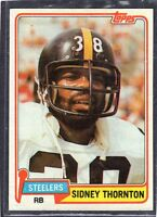 1981  SIDNET THORNTON - Topps  Football Card- # 61 - Pittsburgh Steelers