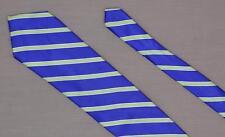 "U.S Polo Assn. 60"" Striped Silk Necktie Vintage Tie Blue Green White FREE SHIP"