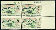 "Scott # 1318a ""TAGGED"" 1966 Beautification Plate Block Mint NH"