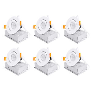 MingBright 6Pack 3'' Dimmable LED Recessed Light Fixture Downlight JunctIon Box