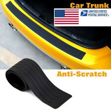 Black Rear Bumper Rubber Pad Kit Guard Sill Plate Trunk Protector Trim Cover