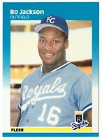 1987 Fleer #369 Bo Jackson RC Kansas City Royals