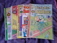 Richie Rich Harvey Comic lot Of 4