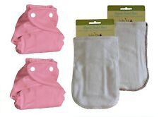 Kashmir Baby 2 Pack Bamboo Charcoal One Size Cloth Diapers, 2 Bamboo Inserts