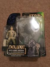 Star Wars Deluxe Hoth Rebel Soldier, Green Card Figure 1997