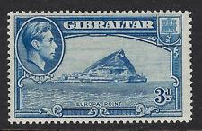 GIBRALTAR : 1938  3d light blue perf 14  SG 125a mint
