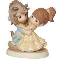 New PRECIOUS MOMENTS DISNEY Figurine BEAUTY & BEAST BELLE Statue DANCE COUPLE
