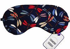 Maschera Occhi Dormire, Libellula Cotone Stampa Giapponese regalo di viaggio, blackout, fatta in UK