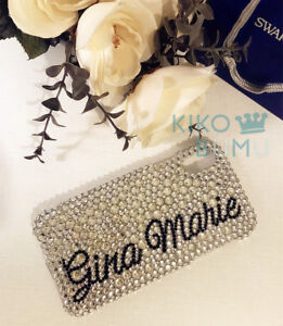 Bling Personalize Your Name Crystal Customize Rhinestone For Various Phone Case