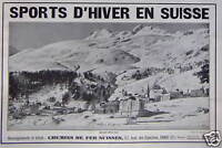 PUBLICITÉ 1932 SPORTS D'HIVER EN SUISSE CHEMINS DE FER SUISSES - ADVERTISING