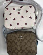 Coach Cross Body Camera Bag Ladybug White Red 2461, Khaki/blue 91677