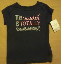 "Girl's Carter's ""My Sister is Totally Awesome"" Shirt Top  Size 3T  New with Tags"