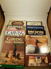 Lot of 8 Woodcarving Books - Patterns Animals Wood Craft Carving Instruction
