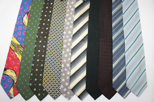 LOT OF 10 HUGO BOSS  silk ties MADE IN ITALY. F4259