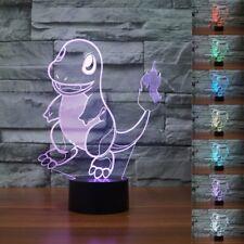 Charmander Lamp Shape 3D Night Light 7 Color Change LED Desk Table Lamp Gift