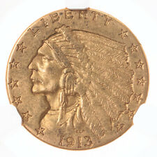 1913 Indian $2.50 NGC Certified AU55 US Mint Gold Coin