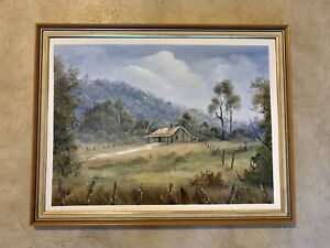 "Vintage Original Oil Painting  Landscape ""Farm At Mudgeeraba"""