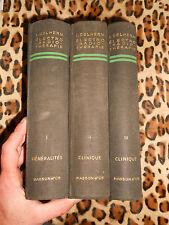 NOUVEAU TRAITÉ D'ÉLECTRO-RADIOTHÉRAPIE - L. Delherm - Masson 1950-51 - 3 vol.