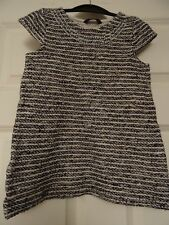 George, Girls, blue and white stripe short sleeve top, 5-6 yrs, great condition