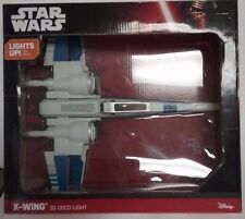 "New Star Wars X-Wing 3D FX LED Deco Wall Mount Night Light, 12"" Wingspan DISNEY"