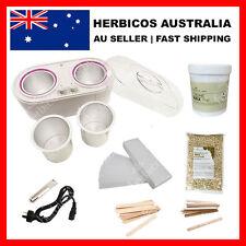 Twin Waxing Kit Wax Pot Heater +  Cream Strip wax 1000ml + Hard Wax 1000g