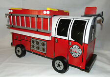 NEW RED FD. Hand Painted Fire Truck Mailbox Handpainted Firetruck Mail Box...