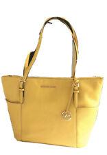 $248 Michael Kors Jet Set Item Sunflower Yellow Handbag MK Purse Bag